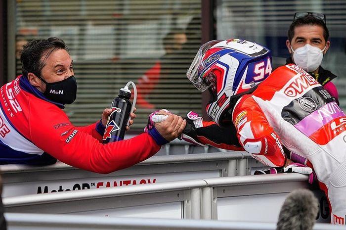 Riccardo Rossi raih podium pertama di Moto3 Prancis 2021