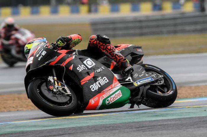 Enggak ada motor prototipe Aprilia RS-GP yang bisa finis di MotoGP Prancis 2021, ada apa ya kira-kira?