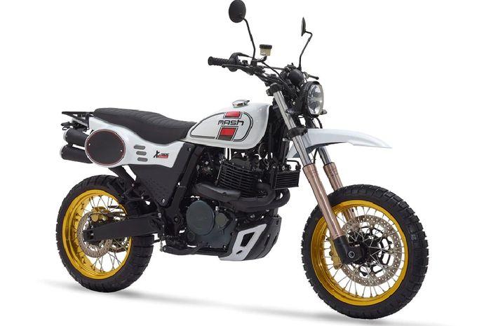 Motor retro modern baru, mesin 650 cc, tampang mirip Ducati Scrambler.