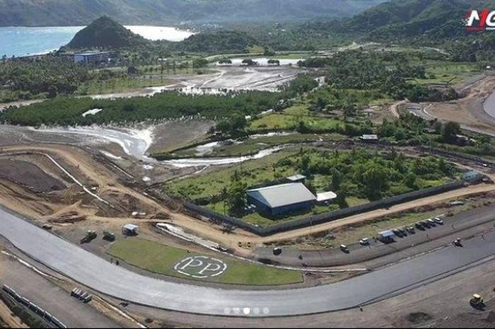 Menjelang WoldSBK Indonesia 2021, begini perkembangan pembangunan sirkuit Mandalika, Lombok, Nusa Tenggara Barat.