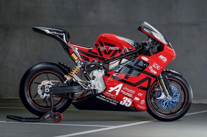 Gokil, motor listrik berkonsep superbike Delta-XE ini bisa digeber tembus 300 kpj!