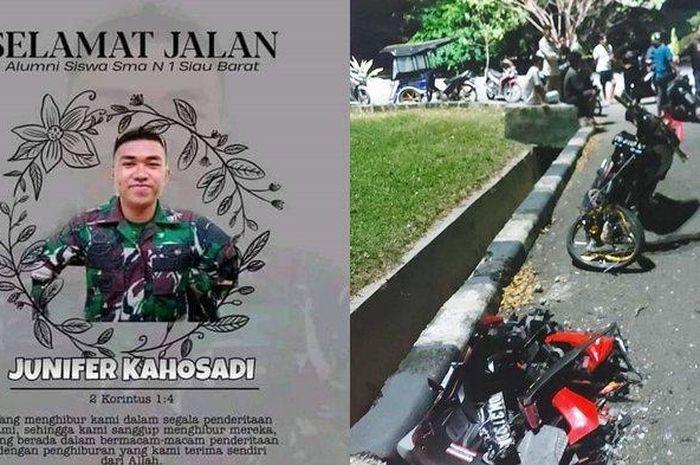 Gorontalo geger, seorang anggota TNI Angkatan Darat (AD) tewas setelah ditabrak oleh joki balap liar.