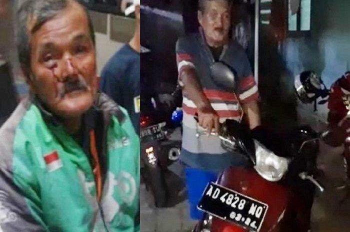 Driver ojol yang merupakan korban begal, kini dapat motor baru dan uang kaget.