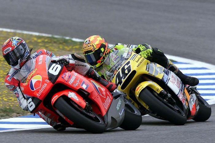 Norick Abe dan Valentino Rossi