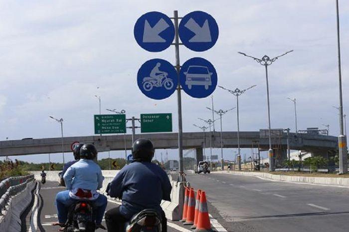 Tol Bali Mandara memiliki jalur khusus sepeda motor