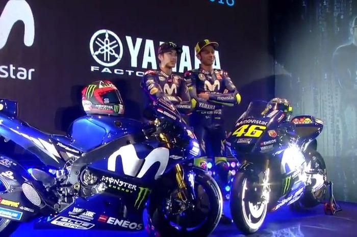 Ilustrasi. Tim Movistar Yamaha MotoGP musim 2018