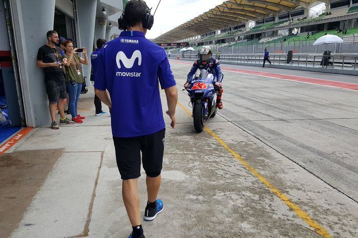 Maverick Vinales di tes pramusim MotoGP 2018 di Sirkuit Sepang, Malaysia