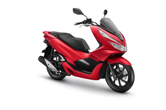 All New Honda PCX 150 Majestic Red menjadi satu-satunya warna doff.