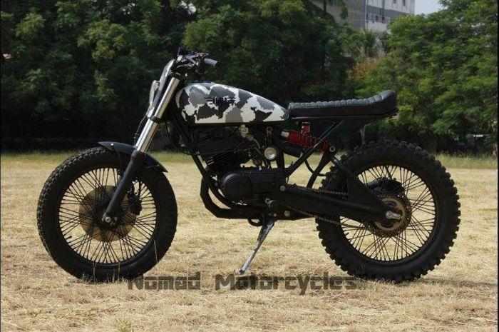 Yamaha RX100 custom scrambler dari Nomad Motorcycles