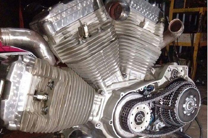 Mesin konfigurasi W garapan Psycho Engine ini sukses bikin builder luar melongo