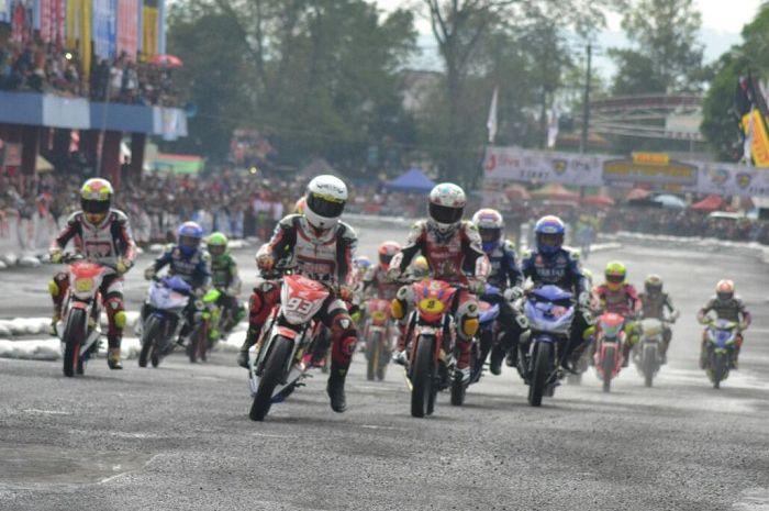 Ilustrasi balap motor nasional