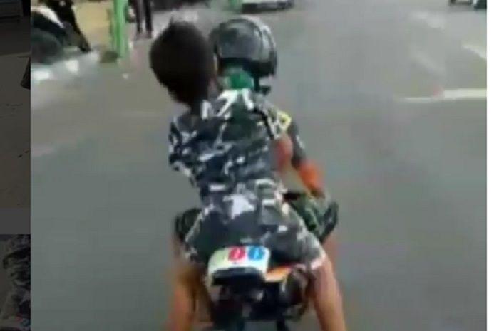 Bocah pengendara Mini GP yang nangis karena takut ditilang polisi pulang dikawal sampai rumah.