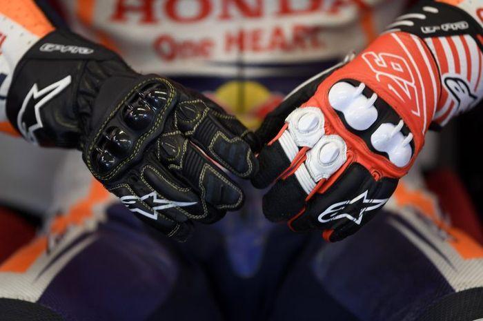 Ilustrasi sarung tangan balap
