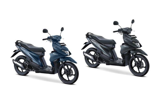 Dua warna doff dari Suzuki Nex II, Mat Stellar Blue dan Solid Black