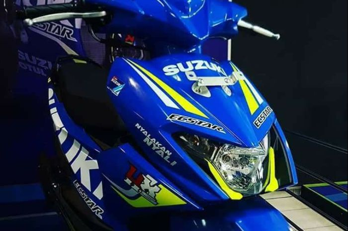 Tampilan depan Nex II dengan livery Ecstar MotoGP