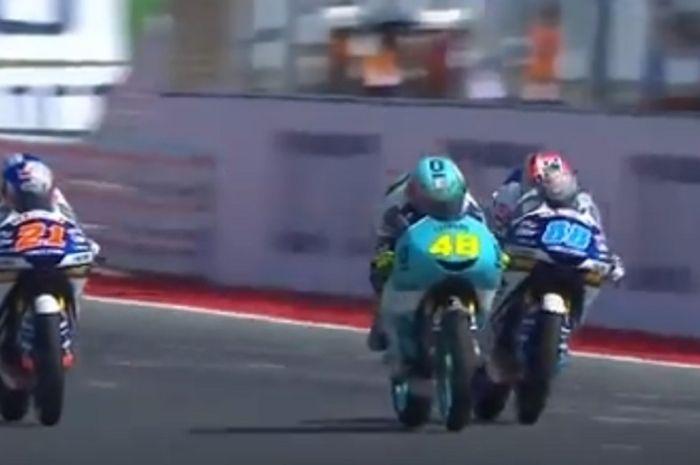 Dalla Porta akhirnya juara di Moto3 San Marino 2018.
