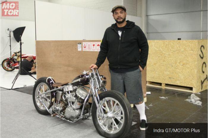 Veroland dan Harley-Davidson Panheadnya siap tempur di AMD Jerman