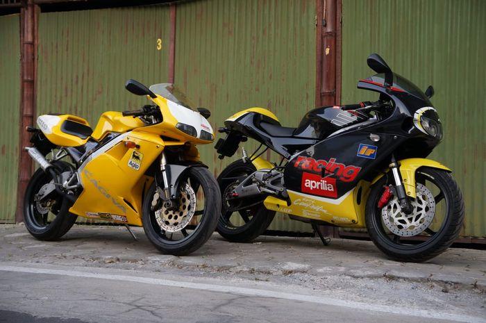 Cagiva Mito dan Aprilia RS125 milik Aji VAS dua-duanya bersurat lengkap!