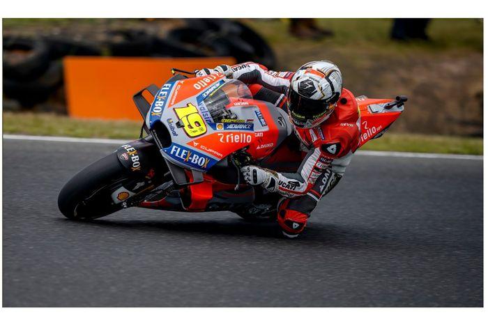 Alvaro Bautista jadi test rider Ducati di tes pramusim MotoGP Jerez.