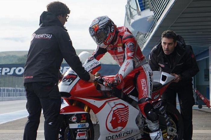 Dimas Ekky Pratama di tes resmi Moto2 Spanyol 2018